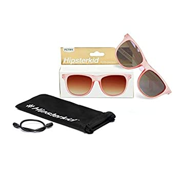 Hipsterkid BPA Free, Warranty Protected, Polarized Sunglasses for Babies, Ages 0-2, in Rose from...