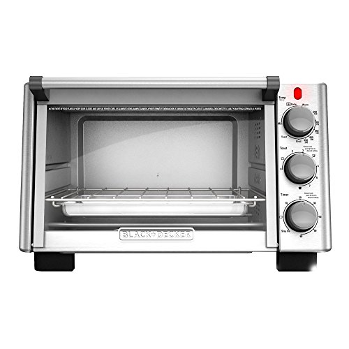 BLACK+DECKER 6-Slice Convection Countertop Toaster Oven, Stainless Steel/Black, TO2050S by BLACK+DECKER