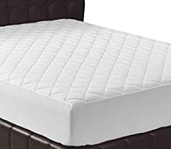 We bring you Quilted Mattress Pad Cover Cushioning. Padded Polyester Mattress Pad adds soft, smooth cushioning for a comfortable and luxurious night's rest. Mattress padding is quilted for added contouring and shape retention.   Preserves and...