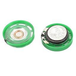 2 Pcs 0.25W 16Ohm 23mm Dia Plastic Housing Magnet Speaker Loudspeaker