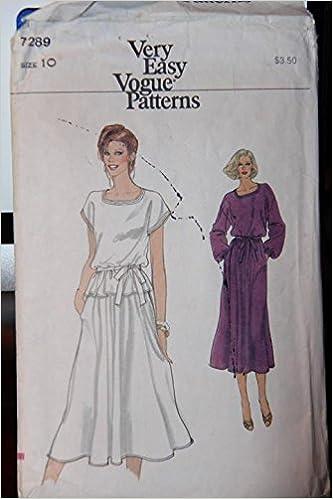 4b26536546d Vogue Patterns 7289 - Misses  Dress Or Top