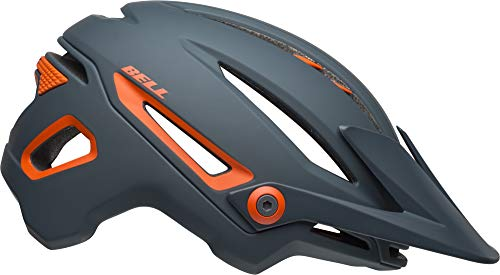 Bell Sixer MIPS Adult MTB Bike Helmet (Ridgeline Matte Slate/Orange (2019), Medium) (Best Mtb Helmet Light 2019)