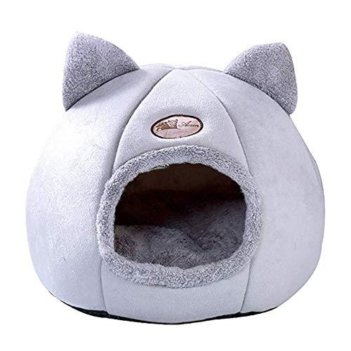 WZRYJS Katzennest für Hunde Katzen mit herausnehmbarem und waschbarem Kissen, Winter Haustier Haus warme Katze Bett…