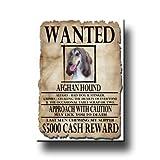 Afghan Hound Wanted Fridge Magnet No 2