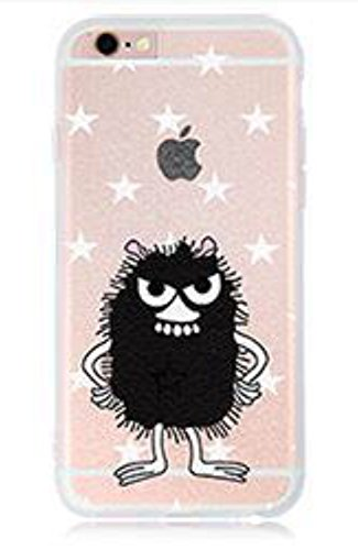Phone Kandy® iPhone TPU Moomin de dibujos animados retro suave caja del teléfono móvil carcasa funda (iPhone X, Stinky)
