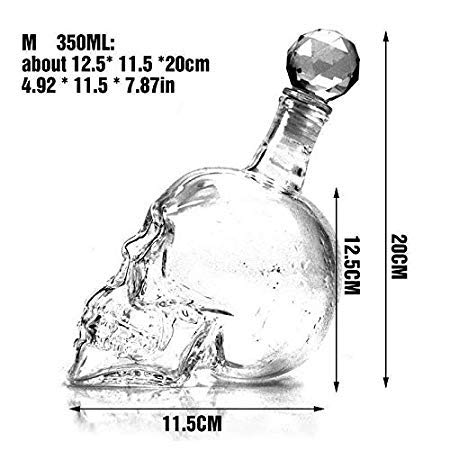 (Crystal Skull Head Shot Glass Wine Decanter Party Transparent Champagne Cocktails Beer Coffee Bottle - Decanters)