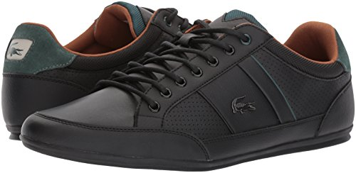Lacoste Men's Chaymon 317 1, Black/Tan, 12 M US