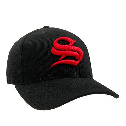 S gótico de S letra béisbol unisex red Gorra estilo en con ajustable black SBYYq
