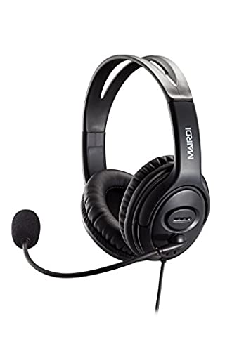 USB Headset Headphone for Skype Call Center With Noise Cancelling Microphone Voice Recognition for Drangon Voice Speech Dictation Microsoft Lync With Volume Controller Mic Mute and Call (Usb Headset Noise Cancelling)