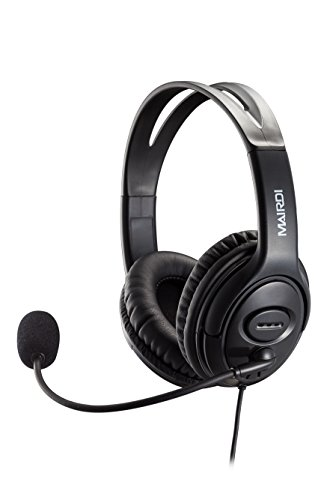 (USB Headset Headphone for Skype Call Center with Noise Cancelling Microphone Voice Recognition for Drangon Voice Speech Dictation Microsoft Lync with Volume Controller Mic Mute and Call)