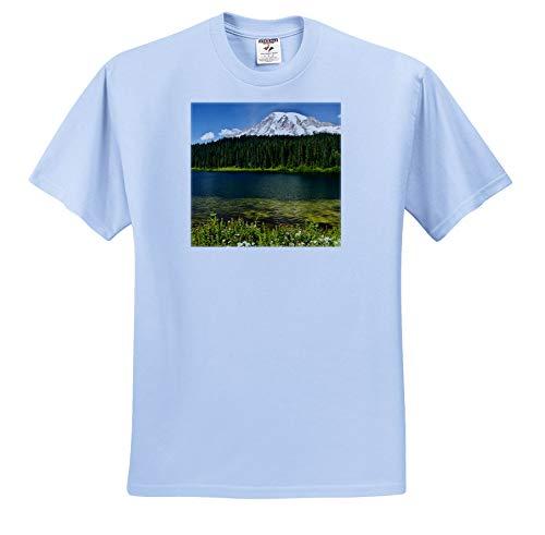 (3dRose Danita Delimont - Washington - Mount Rainier, Reflection Lakes, Washington State, USA - Toddler Light-Blue-T-Shirt (4T) (ts_315176_65))
