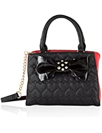 Womens Belted Bow Satchel