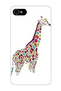 DaojieTM Generic Designer Girly Unique Colorful Giraffe Animal Pattern Design Print Cover for Iphone 4/4s Case Giraffe Print