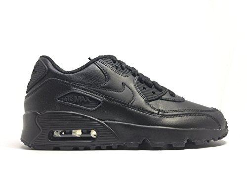 NIKE Kids Air Max 90 LTR (GS) Black/Black Running Shoe 5.5 Kids US ()