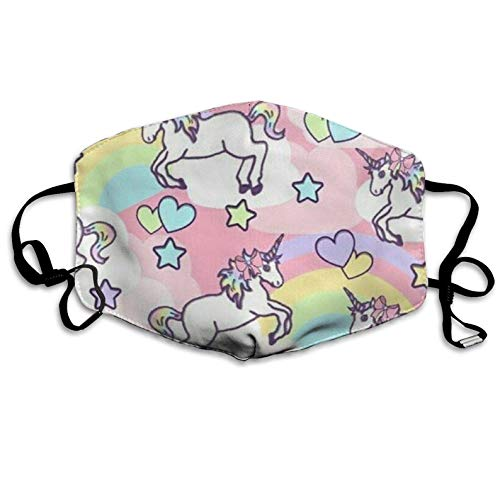 Dust & Allergy Mask Rainbow Unicorn Kawaii Dental Surgical Medical Disposable Earloop Face Masks