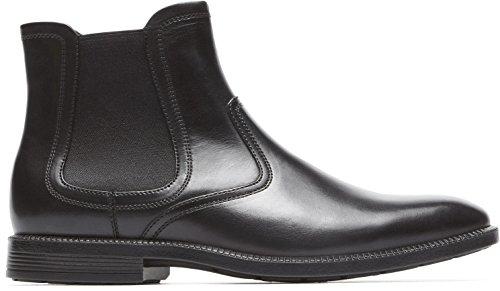 Rockport Mens Dp Modern Chelsea Shoes Black Lea RvP8gOya