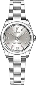 Rolex Oyster Perpetual 26 176200 Silver Dial Womens Watch