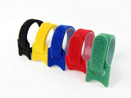 50pcs cinghie di cavo riutilizzabili fascette di fissaggio in microfibra strisce di stoffa di cavo Regolabile multiuso fissazione di fili organizzatore corda titolare di supporti multicolore