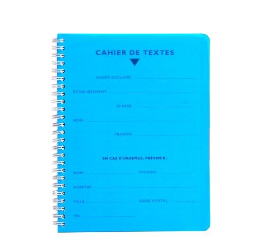 CALLIGRAPHE Cahier de Textes Spirale POLYPRO 17x22 124p s/éy/ès 70g Assortis