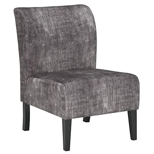 Ashley Furniture Signature Design - Triptis Accent Chair - Contemporary - Charcoal - Dark Brown Legs