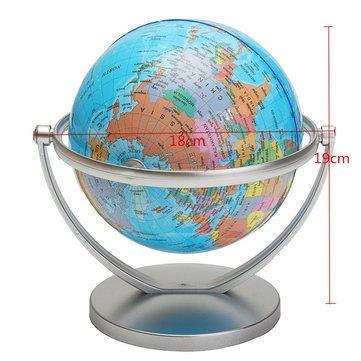 revolving globe world world globe earth ocean map rotating stand
