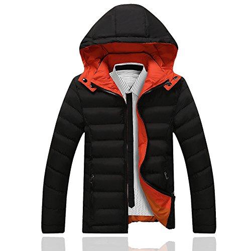 Hgfjn männer - Mode - Mantel wintermantel schlanke männer warm Fashion größe männer lässige Kleidung,schwarz,2XL