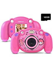Campark Caméra Enfant HD Caméra numérique pour Enfants avec 2.0 Pouces Écran Couleur Appareil Photo Enfants Jouet Cadeau pour Garçons Filles