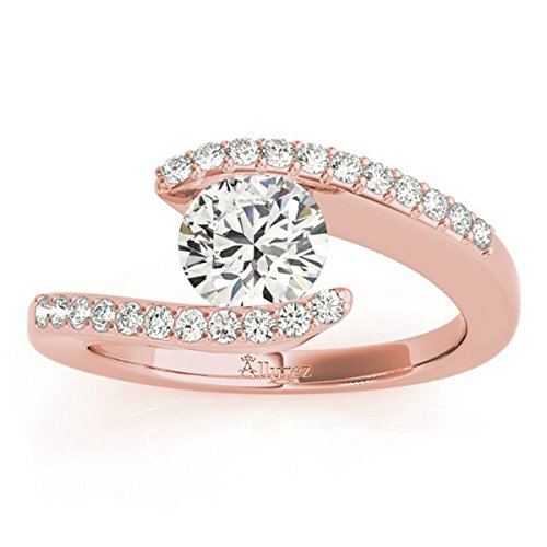 (Women's Diamond Accented Tension Set Engagement Ring 18k Rose Gold (0.17ct))