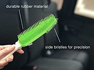 Car Pet Hair Upholstery Removal Brush - Best Pet Hair Remover And Lint Lifter - Remove Dog Hair In Car And Furniture, Bedding, Carpets, Blankets - Best Car Detailing Brush for Pet Hair Removal