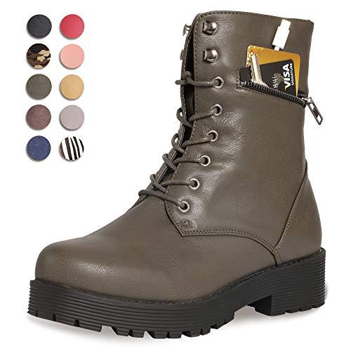 (CINAK Military Combat Boots for Women- Winter Autumn Comfort Outdoor Waterproof Martin Booties Mid-Calf Shoes (8.5-9B(M)US/CN40/9.84'', Taupe))