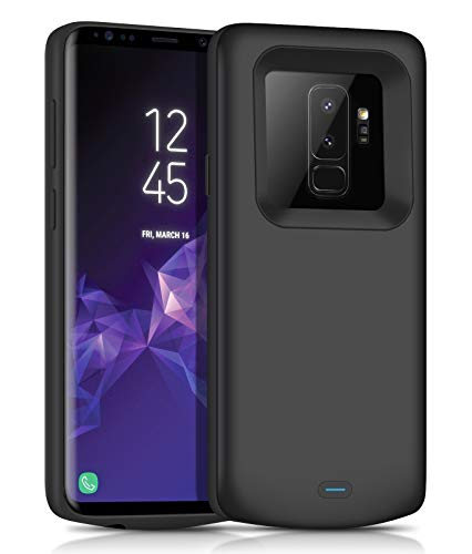 Galaxy S9 Plus Battery Charging Case,JUBOTY 5200mAh Protective Portable Charging Case Compatible with Samsung Galaxy S9 Plus Power Bank Battery Charger Case(24 Month Warranty)