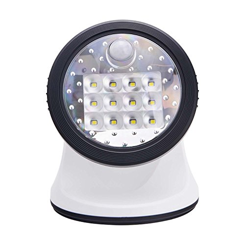 (Light It! By Fulcrum, 12-LED Motion Sensor Security Light, Wireless, Battery Operated, White)