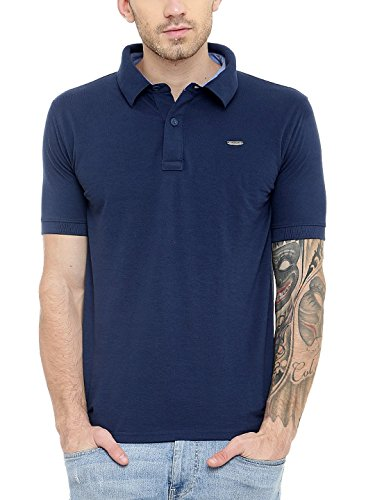 Gritstones New Blue Half Sleeves Polo T-Shirt-GSHSPOLONBLU