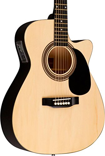 Rogue RA-090 Concert Cutaway Acoustic-Electric Guitar - Concert Acoustic Electric Guitar Cutaway