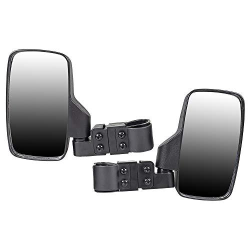 Niche Black Offroad Break-Away Side View Mirror Set for UTV Side x Side Utility Vehicle w/ 1.75