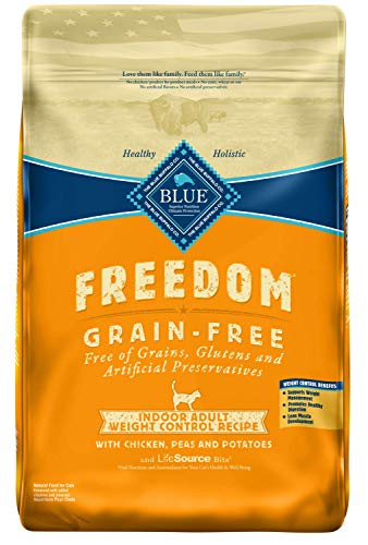 Blue Freedom Adult Indoor Weight Control Grain Free Chicken Dry Cat Food 11-Lb.