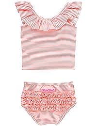 3505e38dae0bc Little Girls Ruffle Crop Top Tankini Swimsuit 2-Piece
