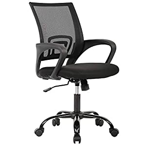 Ergonomic Office Chair Desk Chair Mesh Computer Chair Back Support Modern Executive Adjustable Chair Task Rolling Swivel Chair for Women, Men