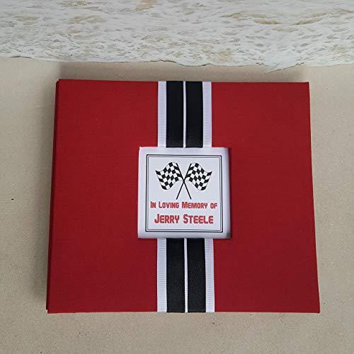 Custom Racecar Funeral Guest Book Set ()