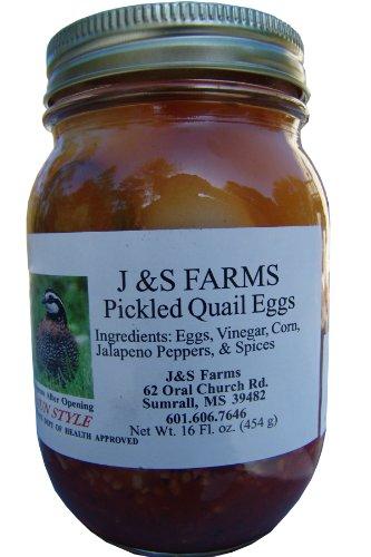 J&S Farms Pickled Cajun Style Quail Eggs - 2 pint jars