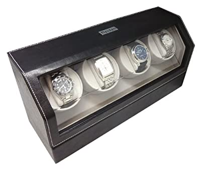 Heiden Quad Leather Watch Winder