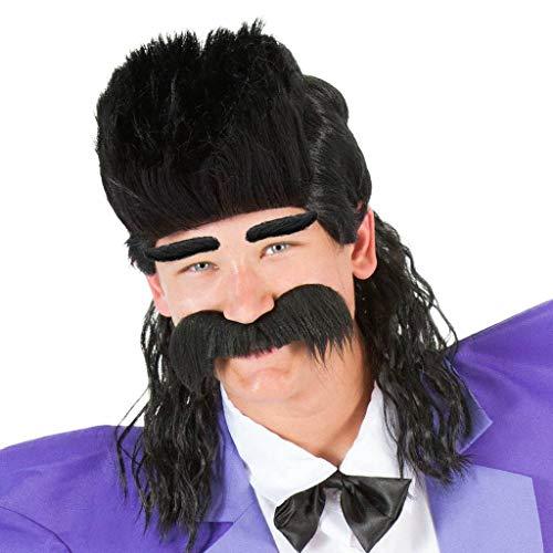 Evil Bratt Adult Costume Mullet Wig -