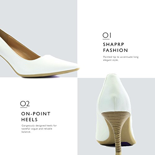 Fashion White Shoes Pointed Heel Women's DailyShoes Special Non Rubber High Toe Dress with Slip Pumps Classic Sole ECgxwZq