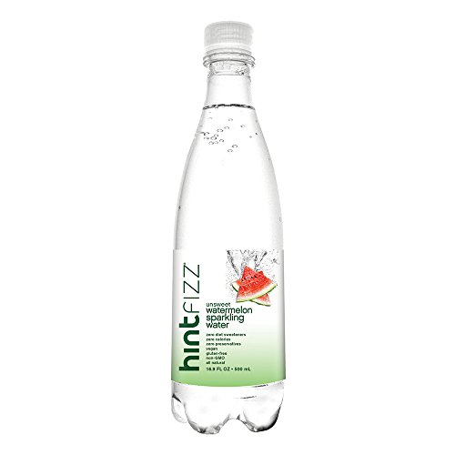 Hint Fizz Sparkling Water Watermelon, (Pack of 12) 16.9 Ounce Bottles, Unsweetened Watermelon-Infused Sparkling Water, Zero Sugar, Zero Calories, Zero Sweeteners, Zero Artificial ()