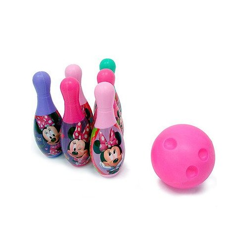 Dinsey – Minnie Mouse – Set de Bowling – 6 Quilles 19 cm + Mini Boule