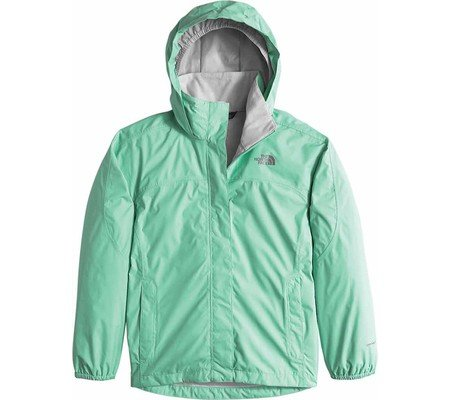 The North Face Resolve Reflective Jacket Girls' Ice Green Large by The North Face
