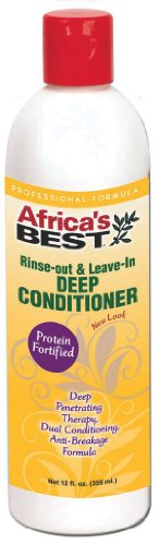 Africa's Best Rinse Out and Leave in Deep Conditioner, 12 Ounce (Africas Best Rinse)