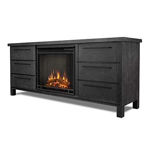 Cheap Real Flame Parsons Electric Entertainment Fireplace in Antique Gray Finish Black Friday & Cyber Monday 2019