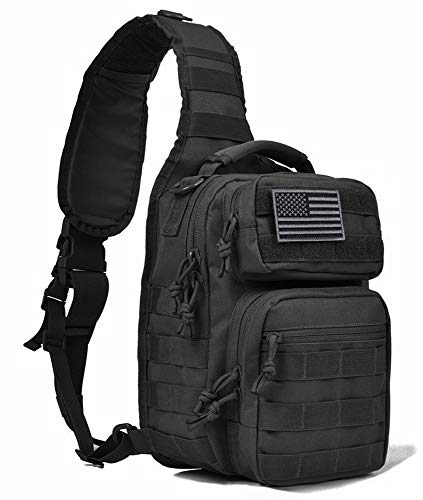 - Tactic Ops Tactical Sling Bag Backpack Pack Military Waterproof Assault Rover Shoulder Sling Molle Range Bag Everyday Carry EDC Diaper Bag Small Day Pack
