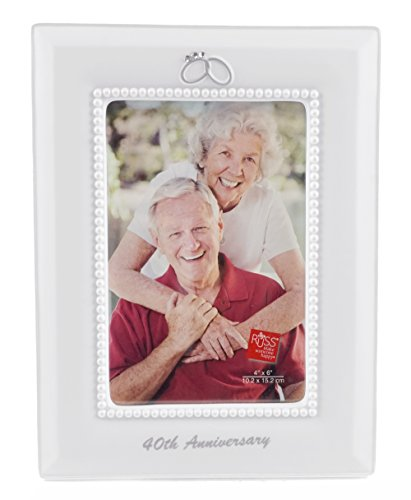 40th Anniversary Wedding Ring Vertical Picture Frame - 4 x 6